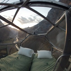 Skylodge Sleep in a glass pod dangling off a cliff. & hanging hotel | Natura Vive